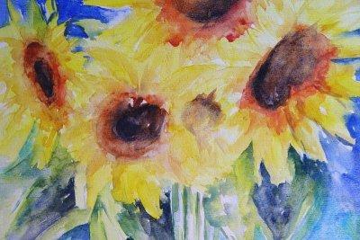 Zonnebloemen  40 x 50 -